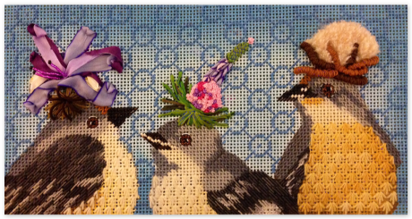 Baby Mockingbirds at Needlepoint.com