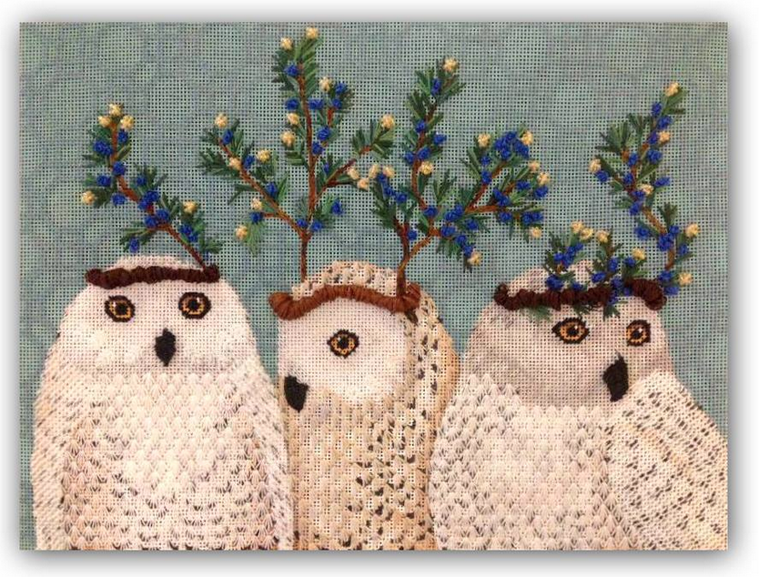 Finished Party in the Coup- Festive Owls