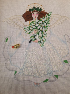 Melissa Shirley's Winter White Angel (Stitched)